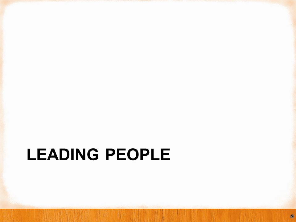 LEADING PEOPLE