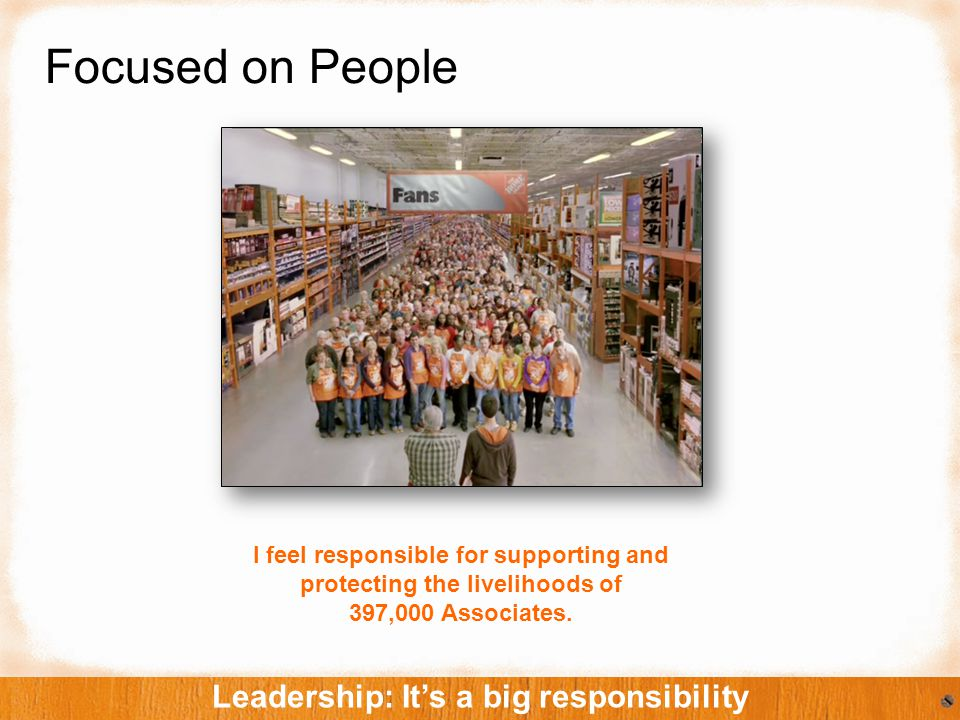 Focused on People Leadership: It's a big responsibility I feel responsible for supporting and protecting the livelihoods of 397,000 Associates.