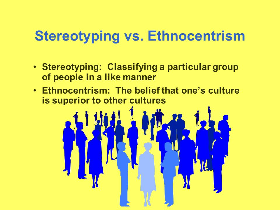 Stereotyping vs.