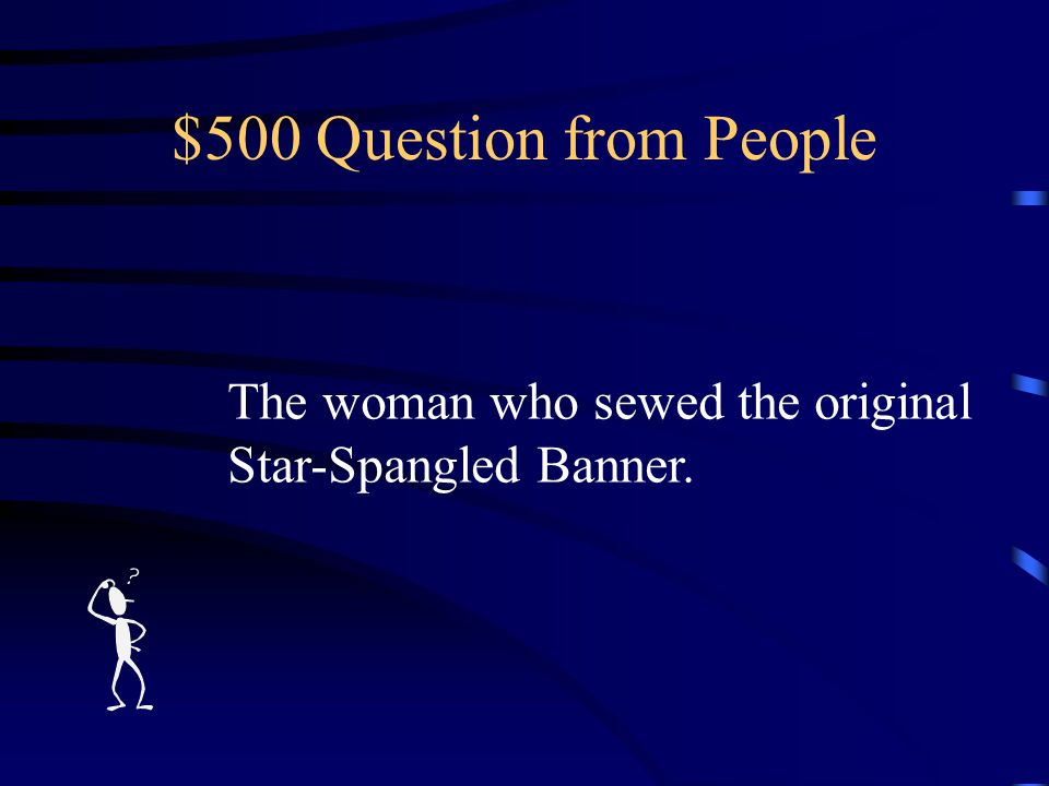 $400 Answer from People Who is General George Armistead