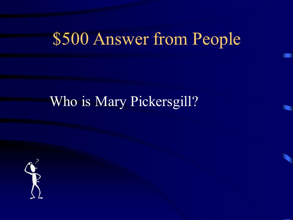 $500 Question from People The woman who sewed the original Star-Spangled Banner.