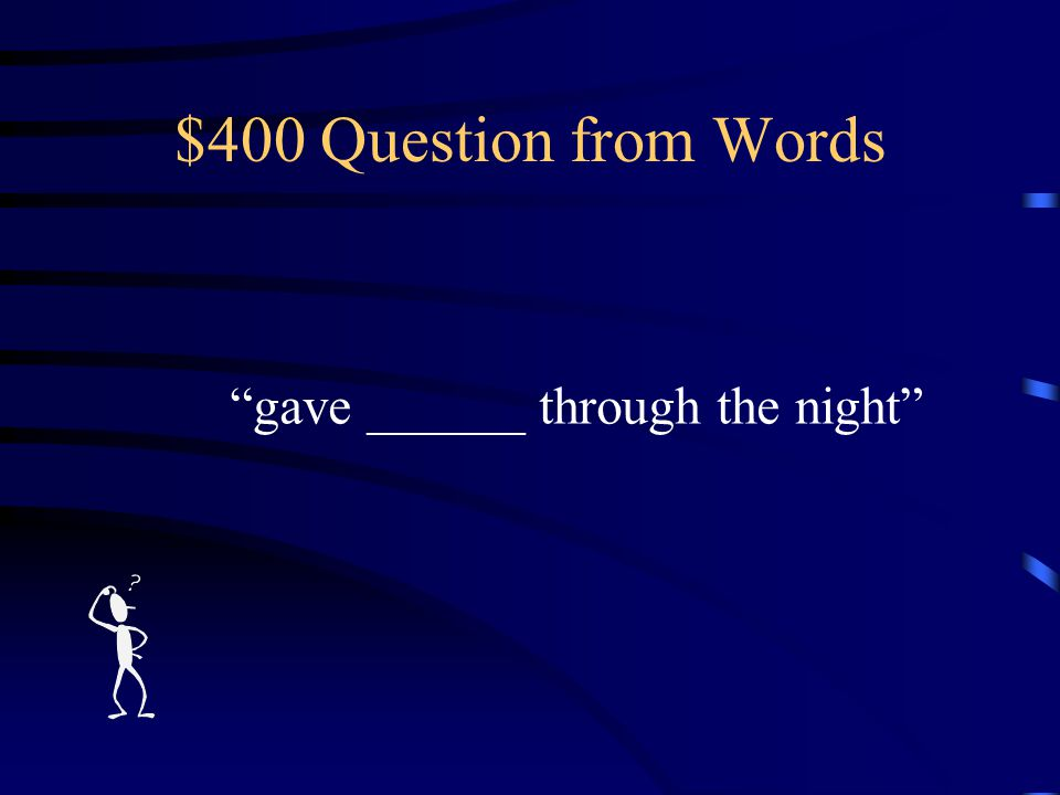 $300 Answer from Words What is BROAD?