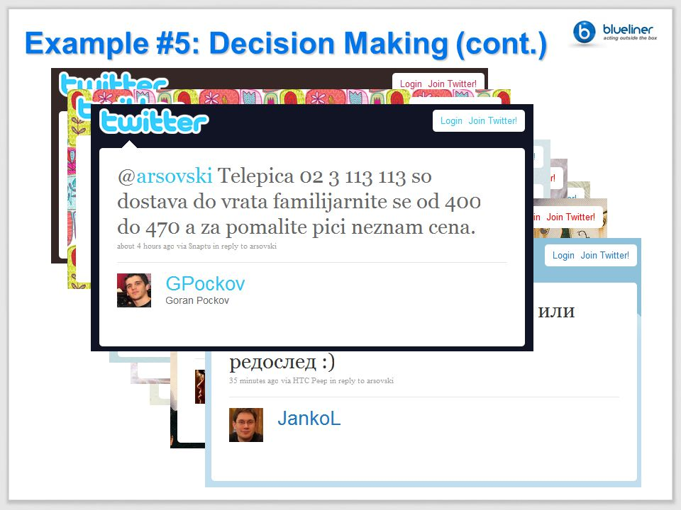 Example #5: Decision Making (cont.)