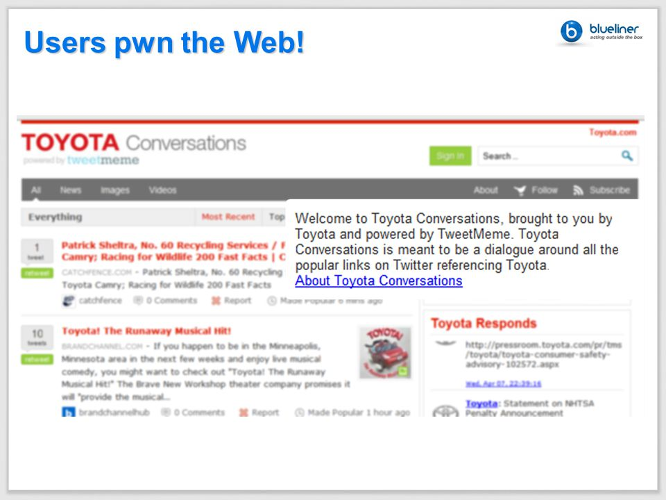 Users pwn the Web!