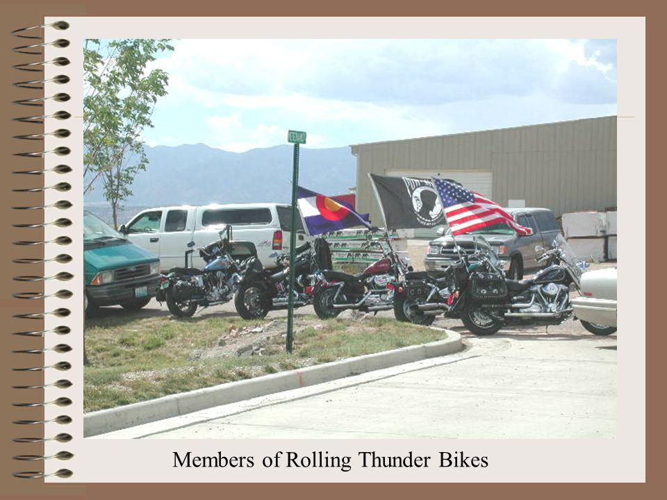 Members of Rolling Thunder Bikes
