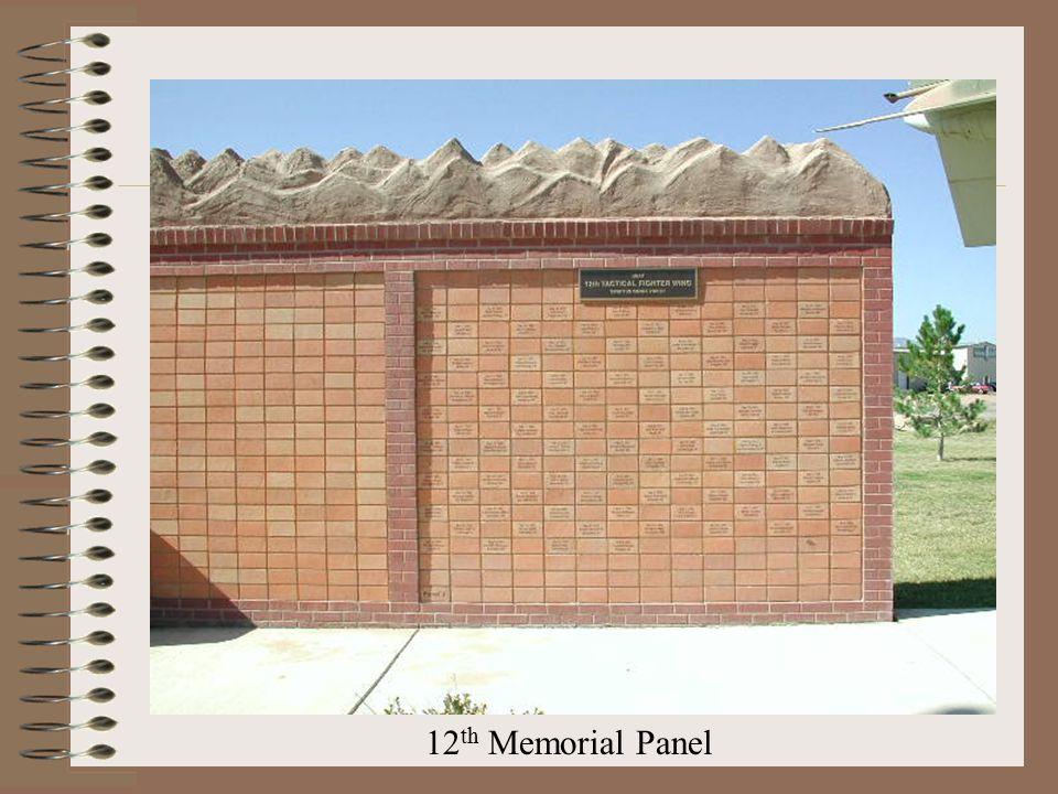 12 th Memorial Panel
