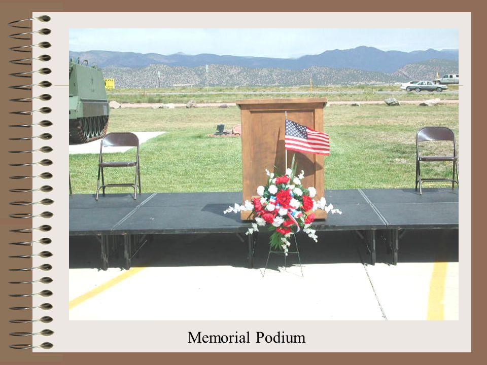 Memorial Podium