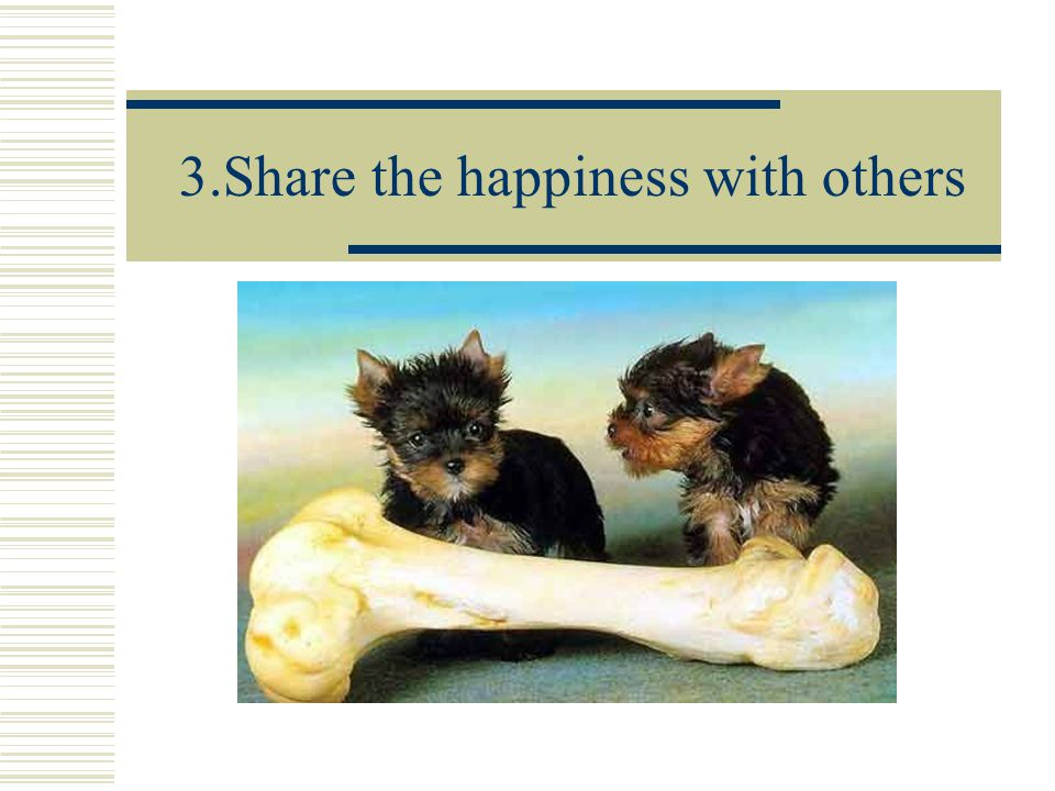 3.Share the happiness with others