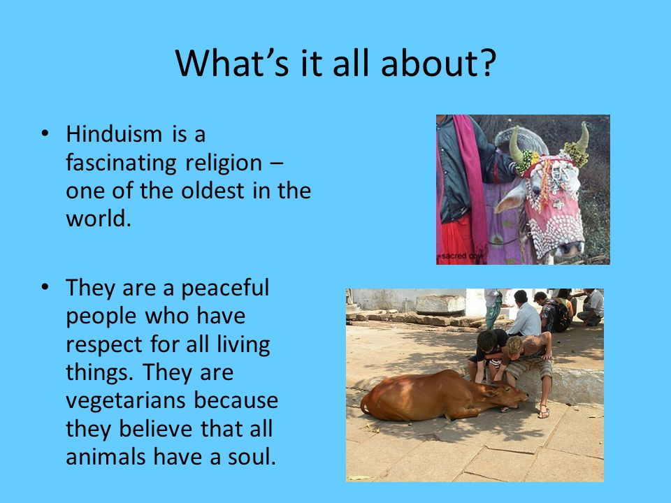 Hinduism is an Indian religion. It has 900 million followers.