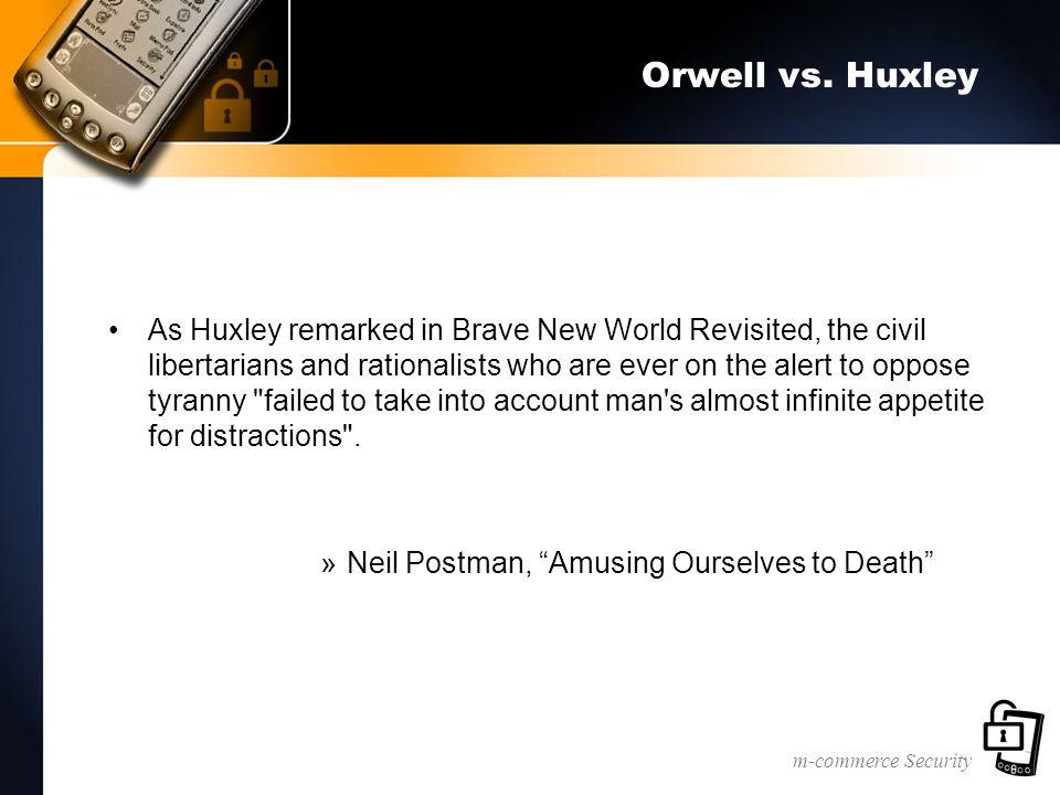 m-commerce Security Orwell vs.
