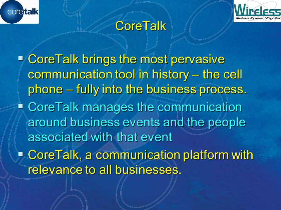 CoreTalk The essence of business communication