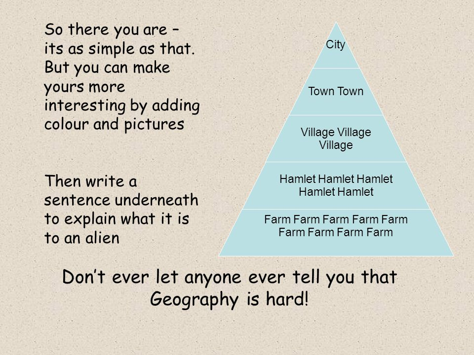 City Town Village Questions How many cities / larger towns / smaller towns / villages are there.