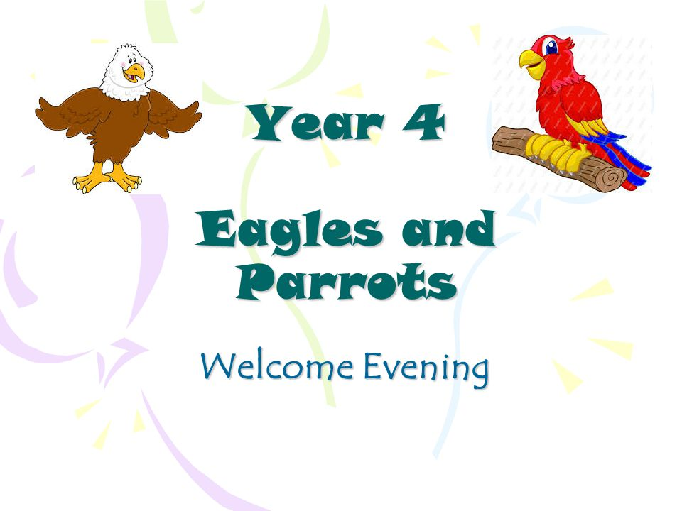 Year 4 Eagles and Parrots Welcome Evening