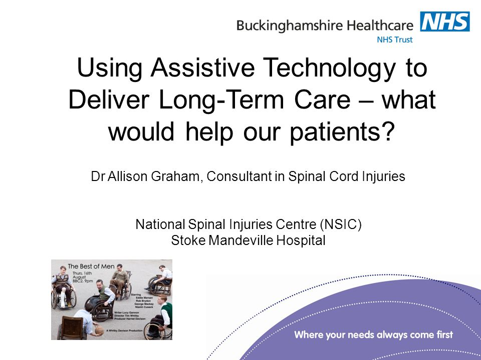 Using Assistive Technology to Deliver Long-Term Care – what would help our patients.