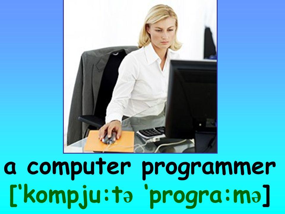 a computer programmer ['kompju:t ə 'progra:m ə ]