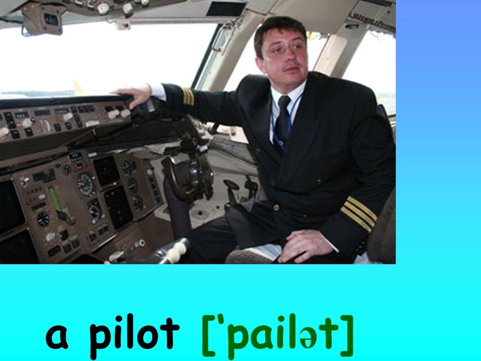 a pilot ['pail ə t]
