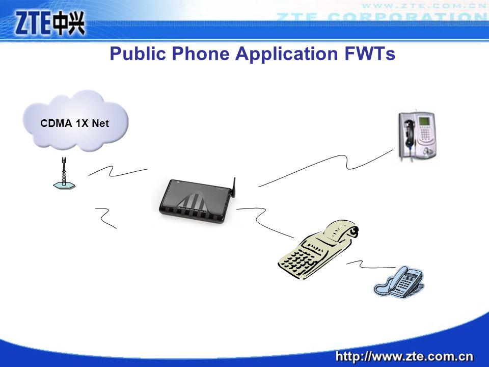 Public Phone Application FWTs CDMA 1X Net