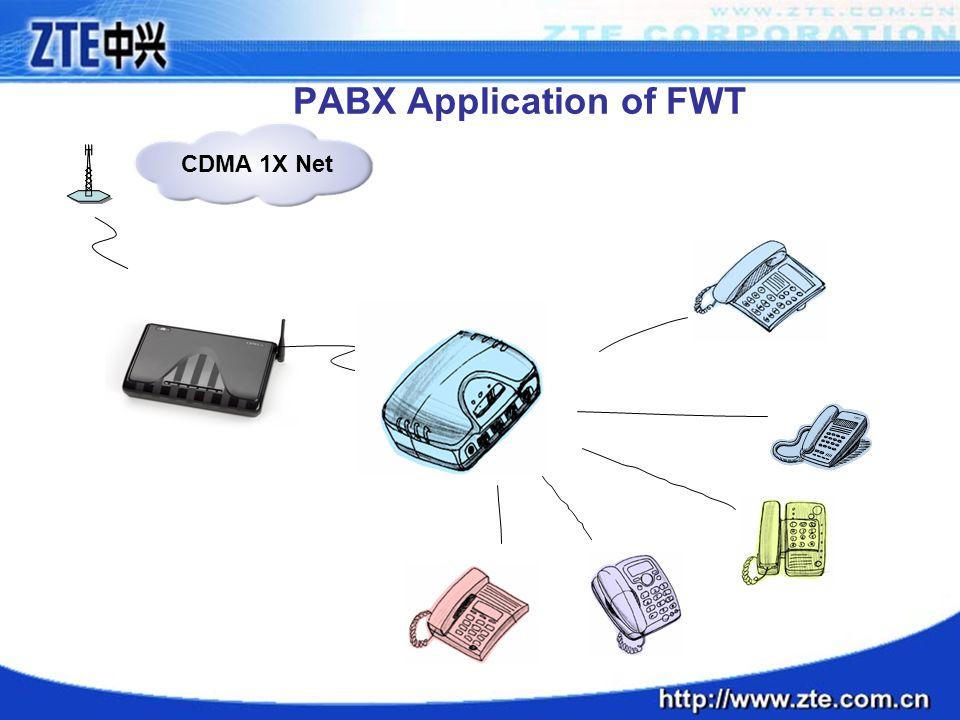PABX Application of FWT CDMA 1X Net