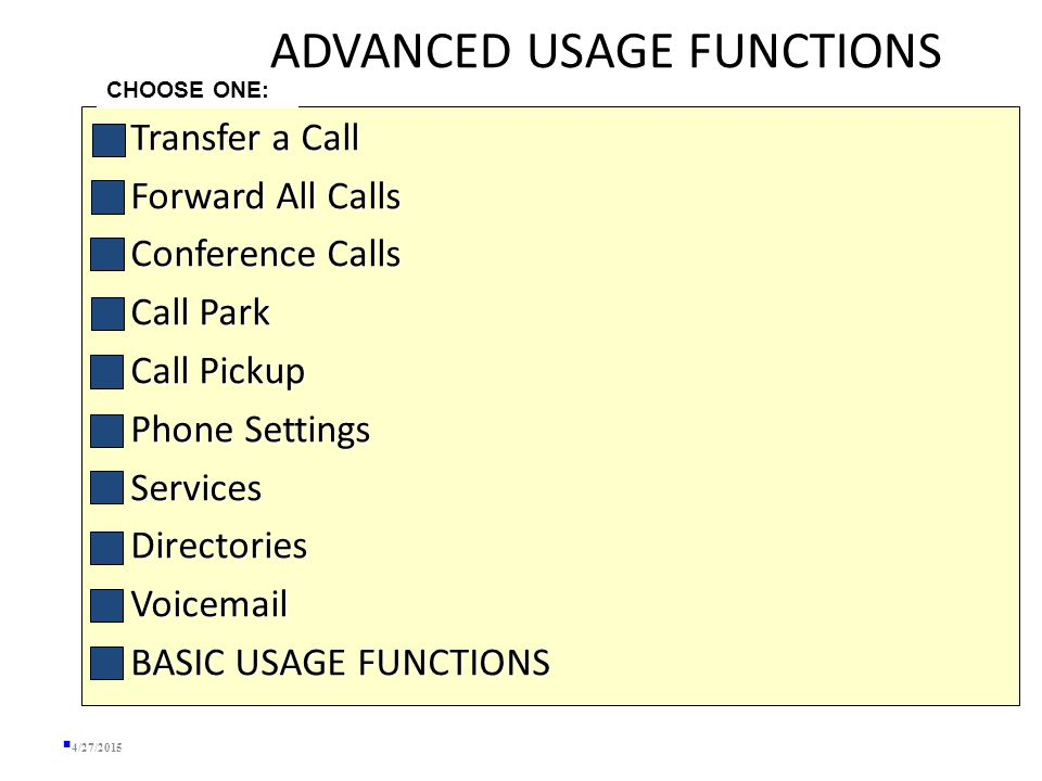 BASIC USAGE Redial  Lift the handset and press the Redial soft key or  Press the Redial soft key to simultaneously activate the speaker and redial the last number called.