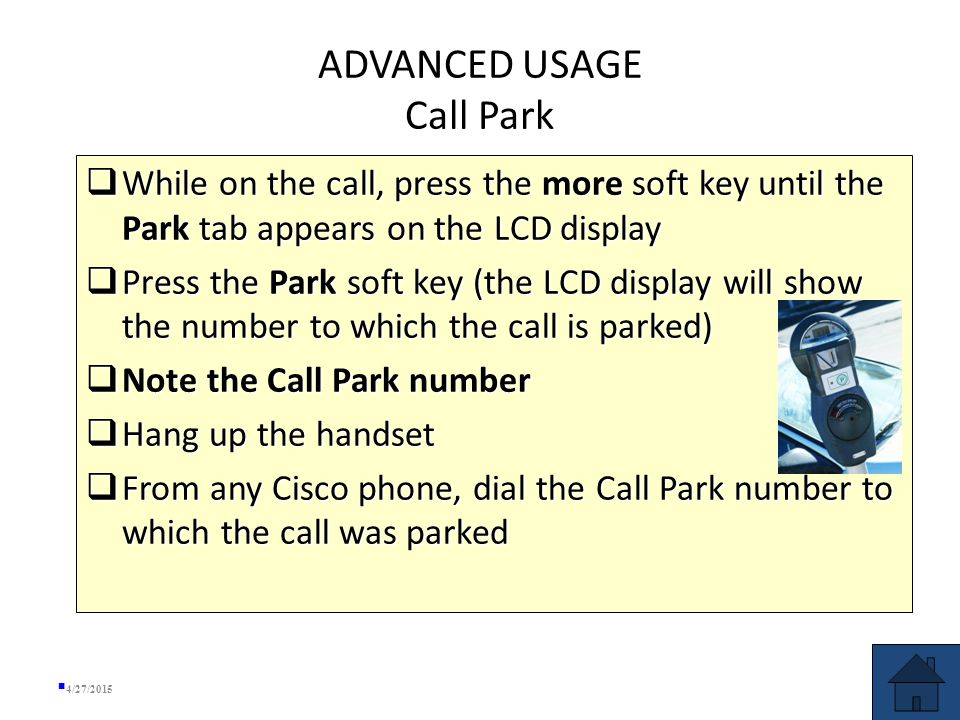  To place a conference call on hold, press the Hold soft key (the other parties can talk among themselves but they cannot hear you)  Hold function allows caller on hold to listen to KMST—NOT recommended for conference calls.