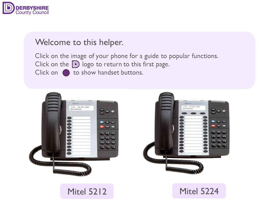 make a call put a call on hold transfer a call forwarding calls phonebook voice mail other features contact details back Mitel 5212 Volume buttonsSpeaker buttonMute button Blue Superkey Cancel button Redial button Message waiting button Trans/Conf button Hold button Programmable keysPrime key