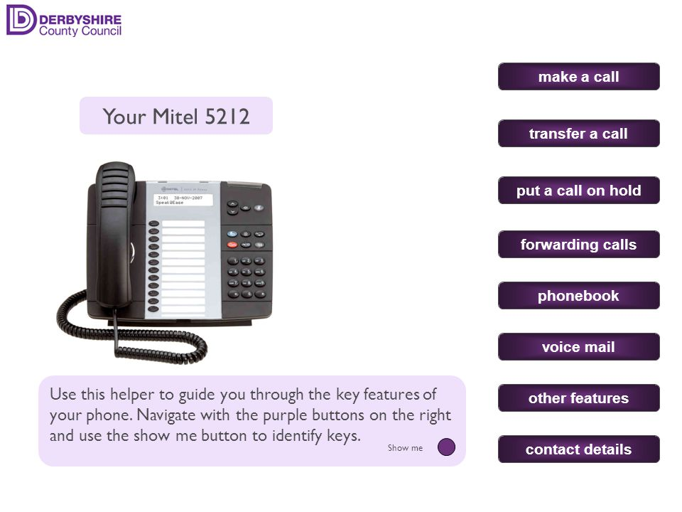 Pick up the handset & dial the number.(prefix with 9 for an outside line).