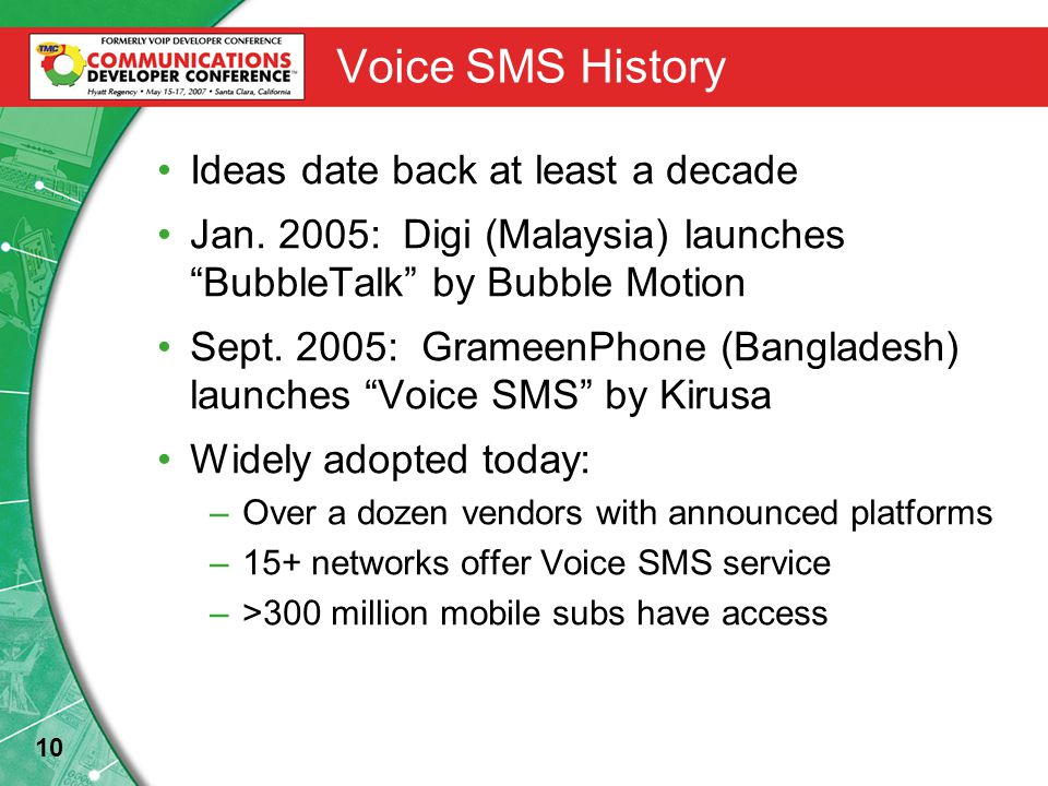 10 Voice SMS History Ideas date back at least a decade Jan.