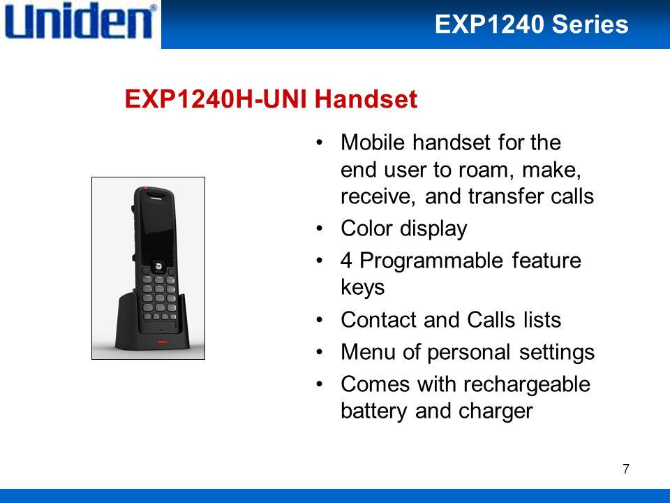 18 Roaming / Handover EXP1240 Series