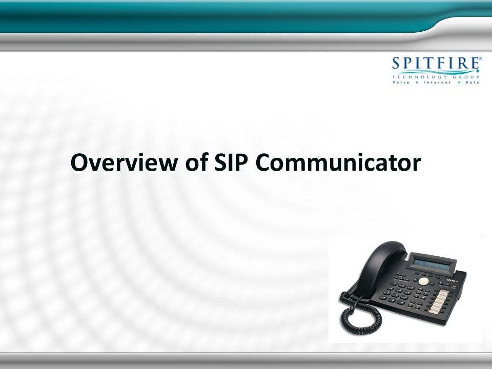 Overview of SIP Communicator