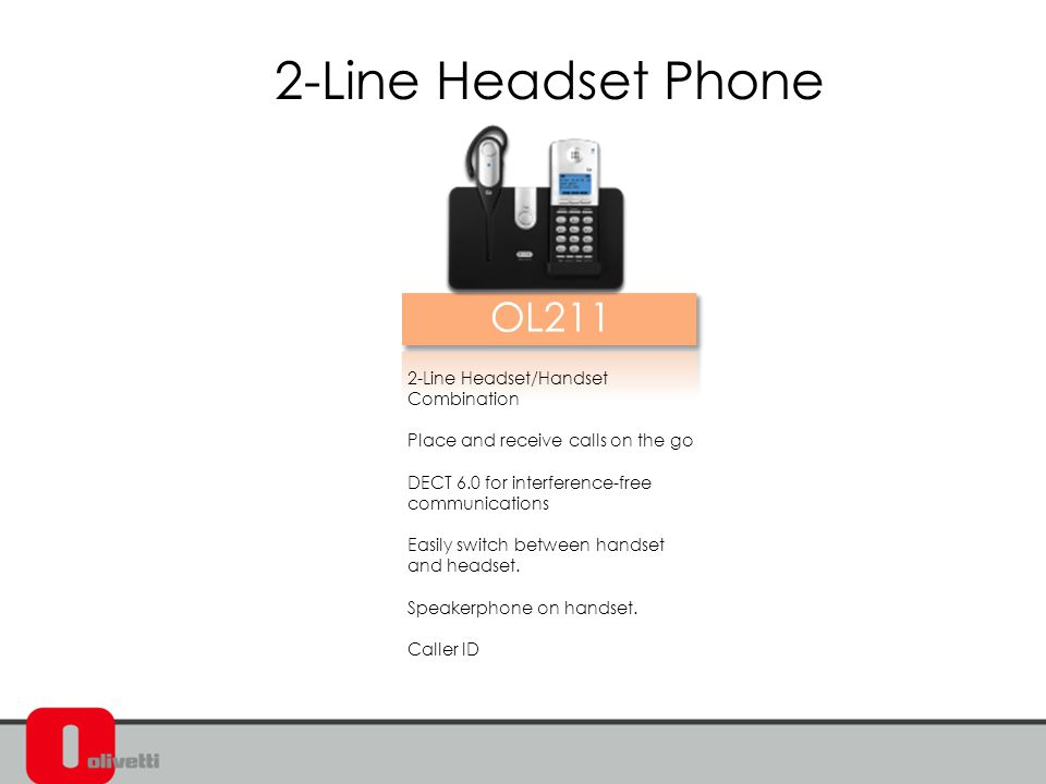 2-Line Headset/Handset Combination Place and receive calls on the go DECT 6.0 for interference-free communications Easily switch between handset and headset.