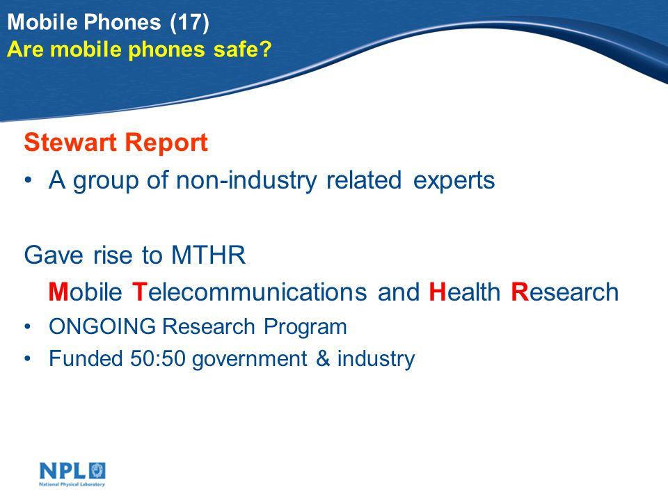 Mobile Phones (15) What are the risks.