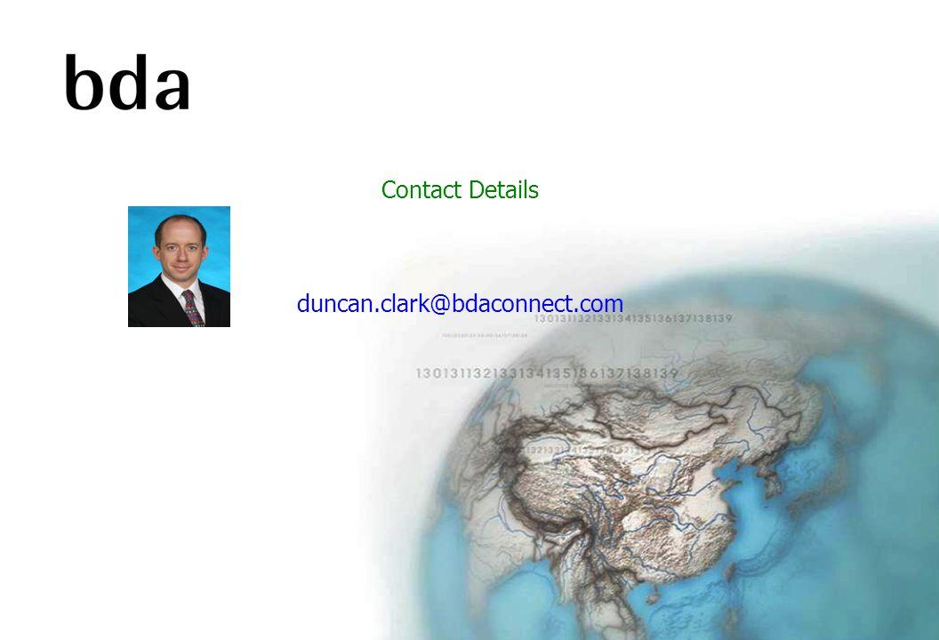 Contact Details duncan.clark@bdaconnect.com