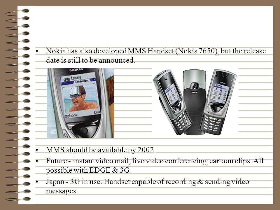 Conclusion Who's involved. System vendors: Ericsson (Sony Ericsson), Nokia, Motorola.