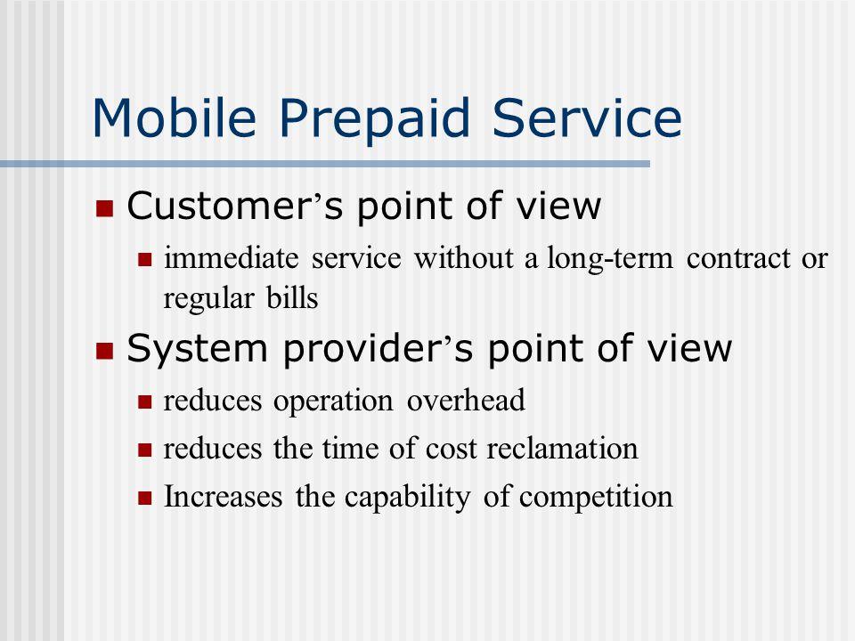 Mobile Prepaid Service Provider ' s interest Cost v.s.
