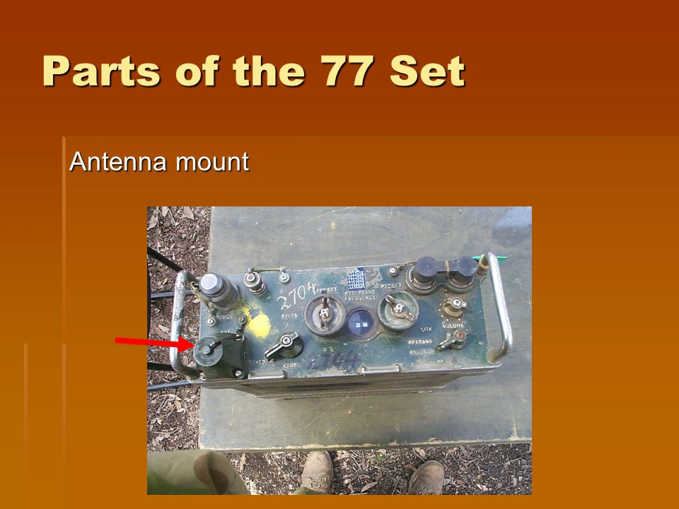Parts of the 77 Set Antenna mount