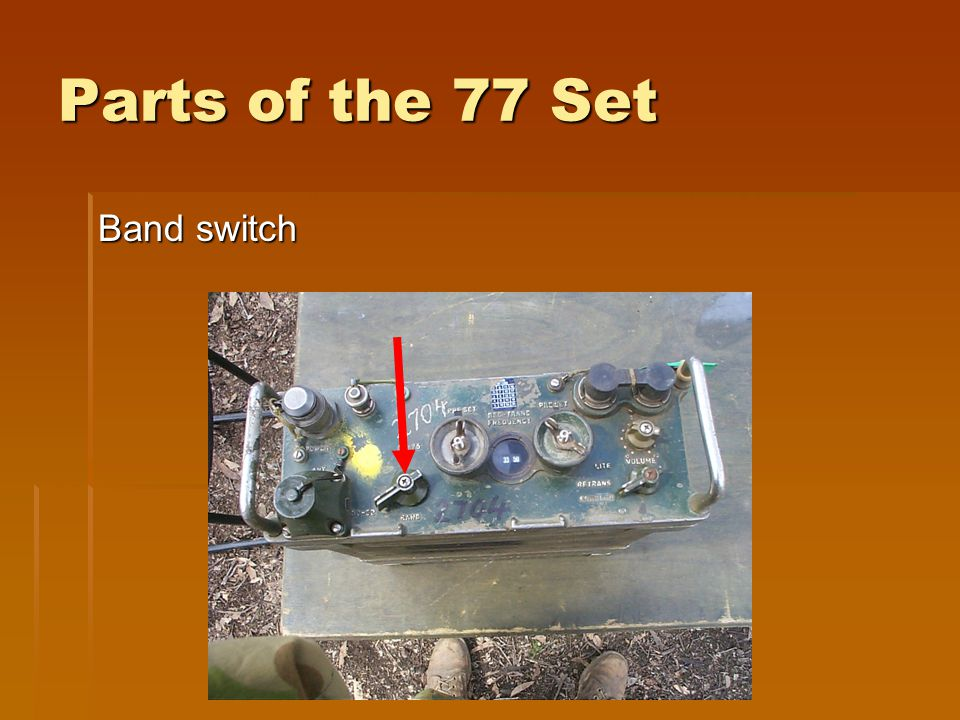 Parts of the 77 Set Band switch