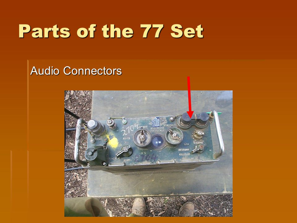 Parts of the 77 Set Audio Connectors
