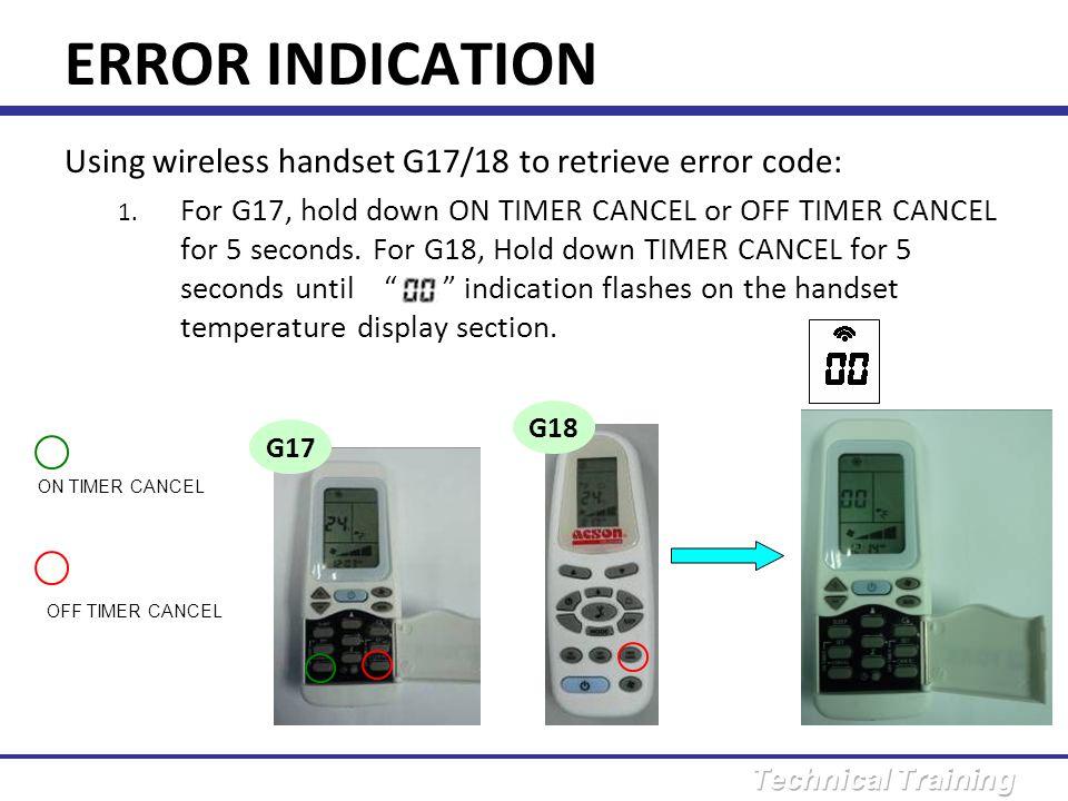ERROR DIAGNOSIS ERROR H0 : Compressor sensor system abnormal <10 Ω .