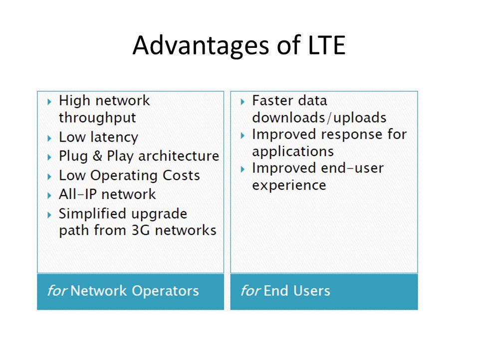 Advantages of LTE