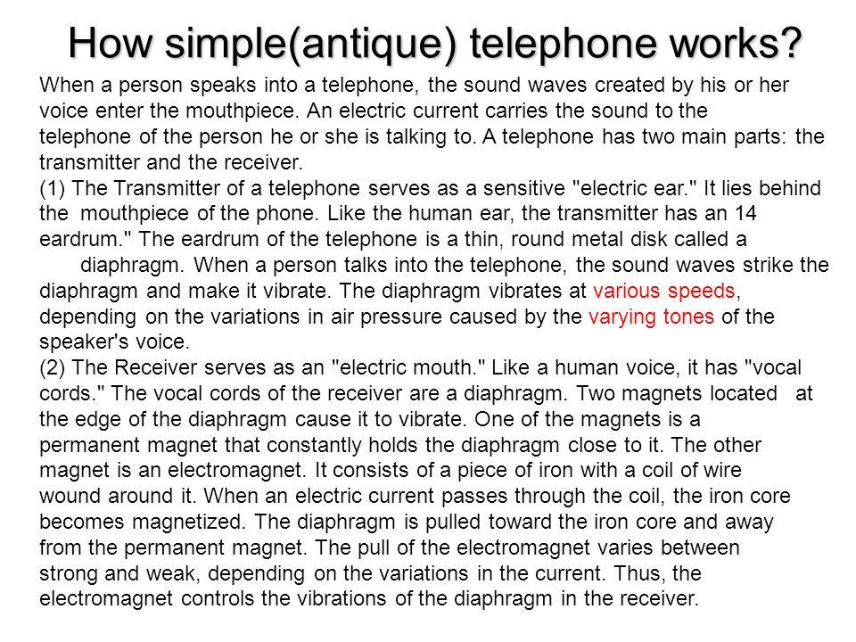 The telephone line diagram