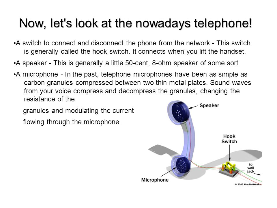 Now, let s look at the nowadays telephone.
