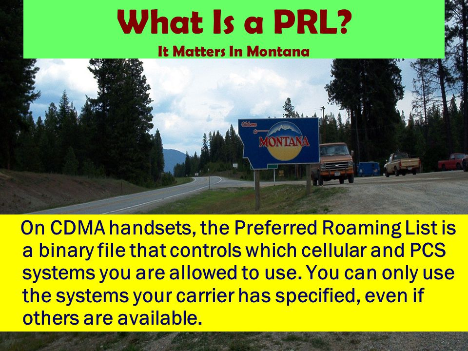 What Is a PRL.