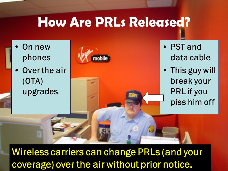 How Are PRLs Released.