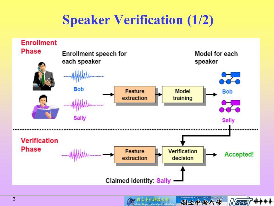 3 Speaker Verification (1/2)