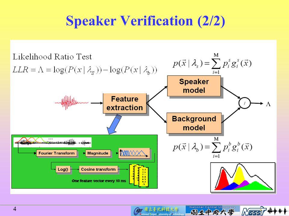 4 Speaker Verification (2/2)