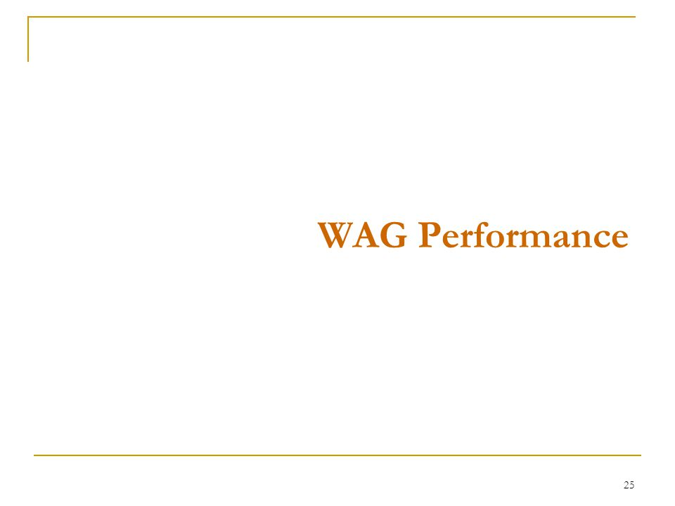 25 WAG Performance