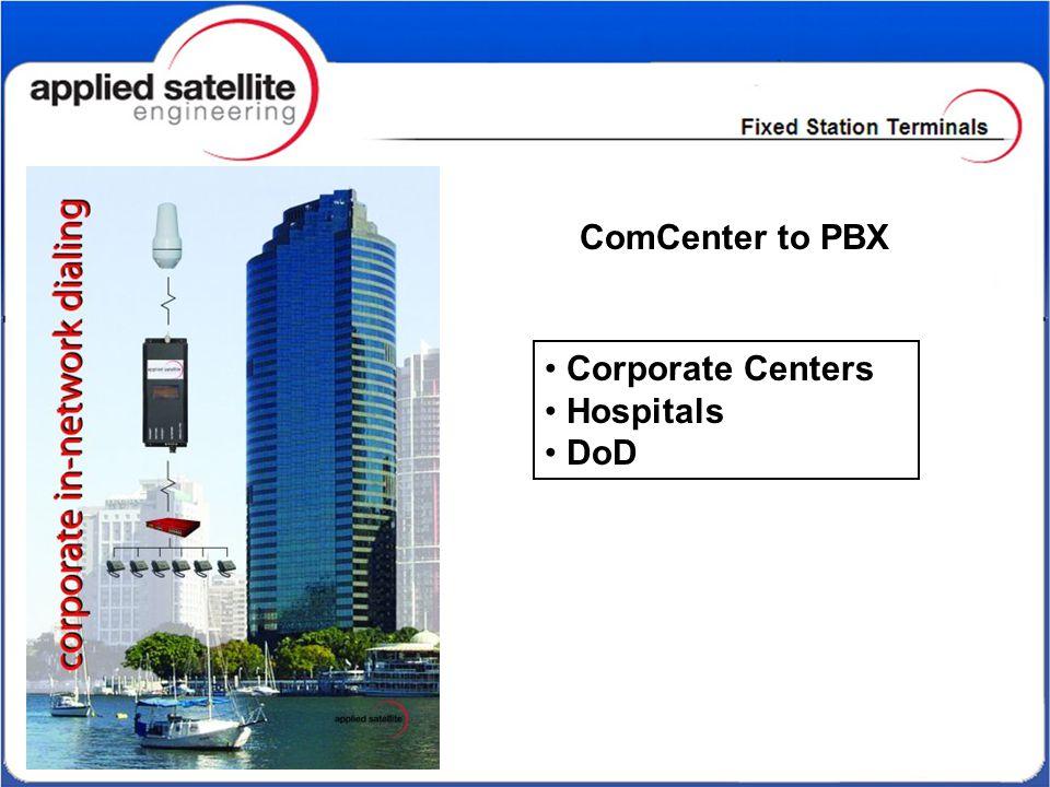 Corporate Centers Hospitals DoD ComCenter to PBX