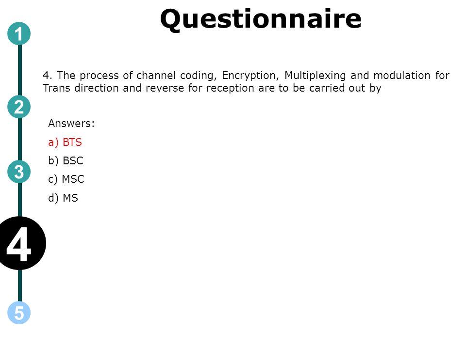 Questionnaire 4.