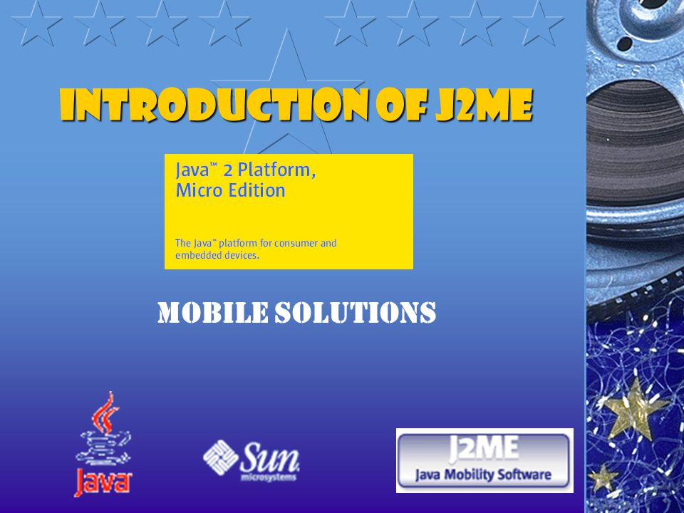 Introduction of J2ME Mobile solutions