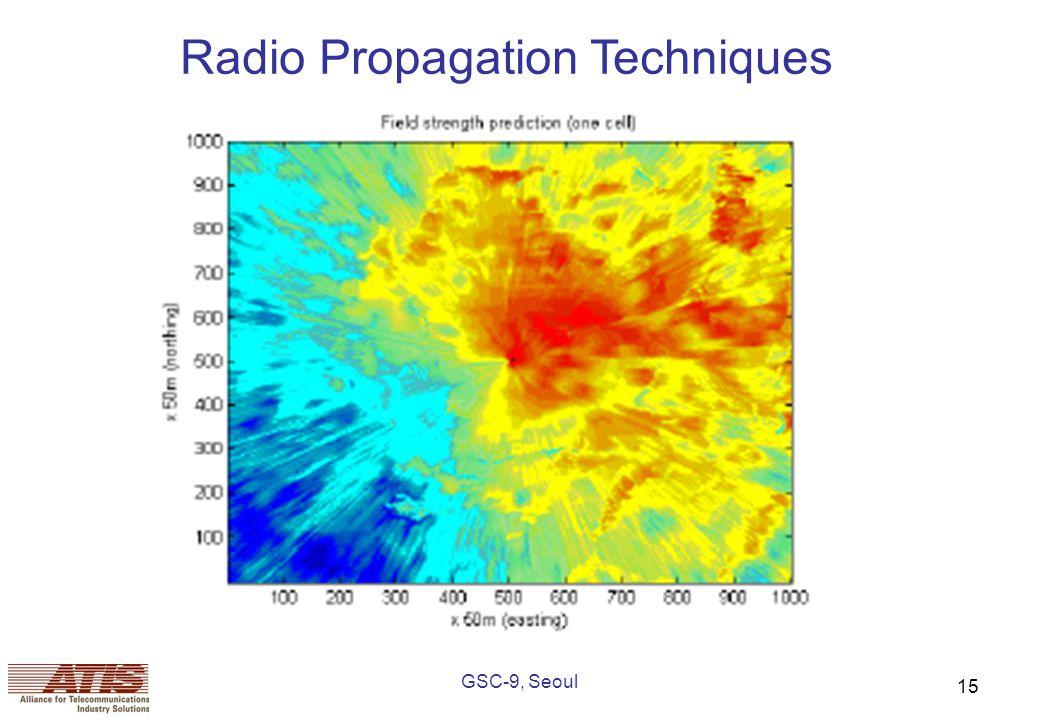GSC-9, Seoul 15 Radio Propagation Techniques